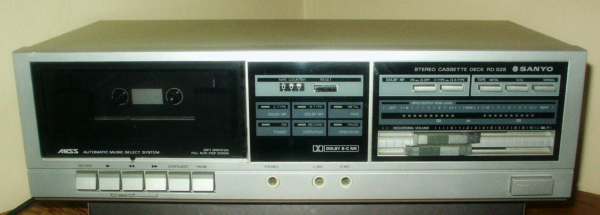 Sanyo cassette deck recorder led rd s28 cro2 metal tape 2x for Balcony noise reduction