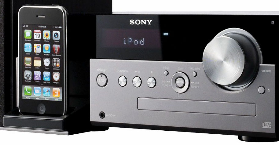 Sony CMTMX500I for iPod iPhone Charging Dock CD Player  Clock Radio Remote